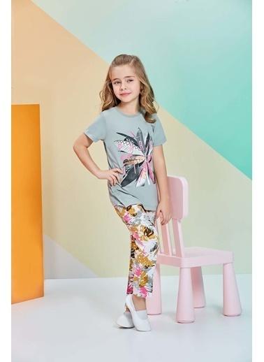 Roly Poly Rolypoly Kısa Kollu Kız Çocuk Pijama Takımı Haki
